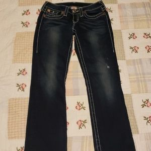 True Religion dark denim world tour jeans